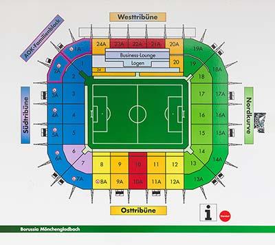 Borussia-Park Stadion Sitzplan